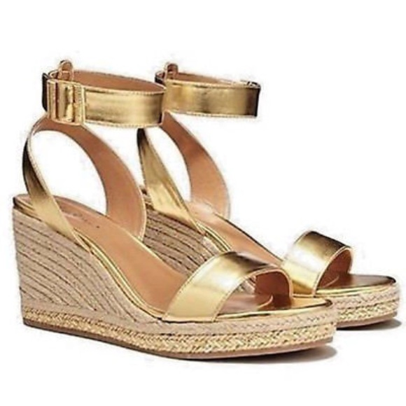 82c22223f3d Lilly Pulitzer for Target Shoes - Lilly Pulitzer for Target Gold Wedges Size  7.5